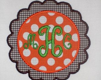 Scalloped Frame Embroidery Design Machine Applique