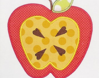 Double Apple Embroidery Design Machine Applique