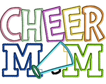 Cheer Mom Embroidery Design Machine Applique