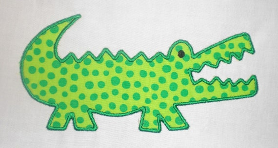 Alligator Machine Embroidery Design Applique