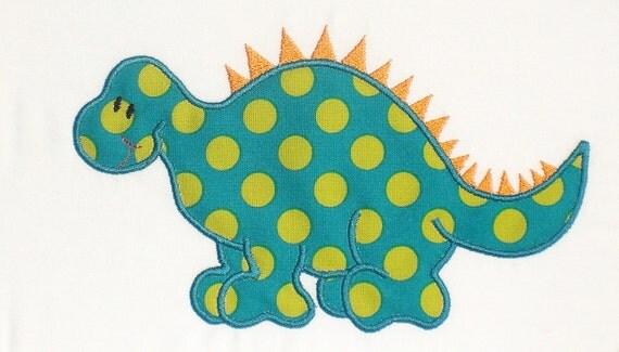 Dinosaur Boy Embroidery Design Machine Applique