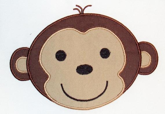 Monkey Embroidery Design Machine Applique