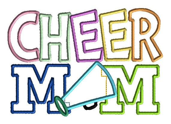 Cheer Mom Embroidery Design Machine Applique