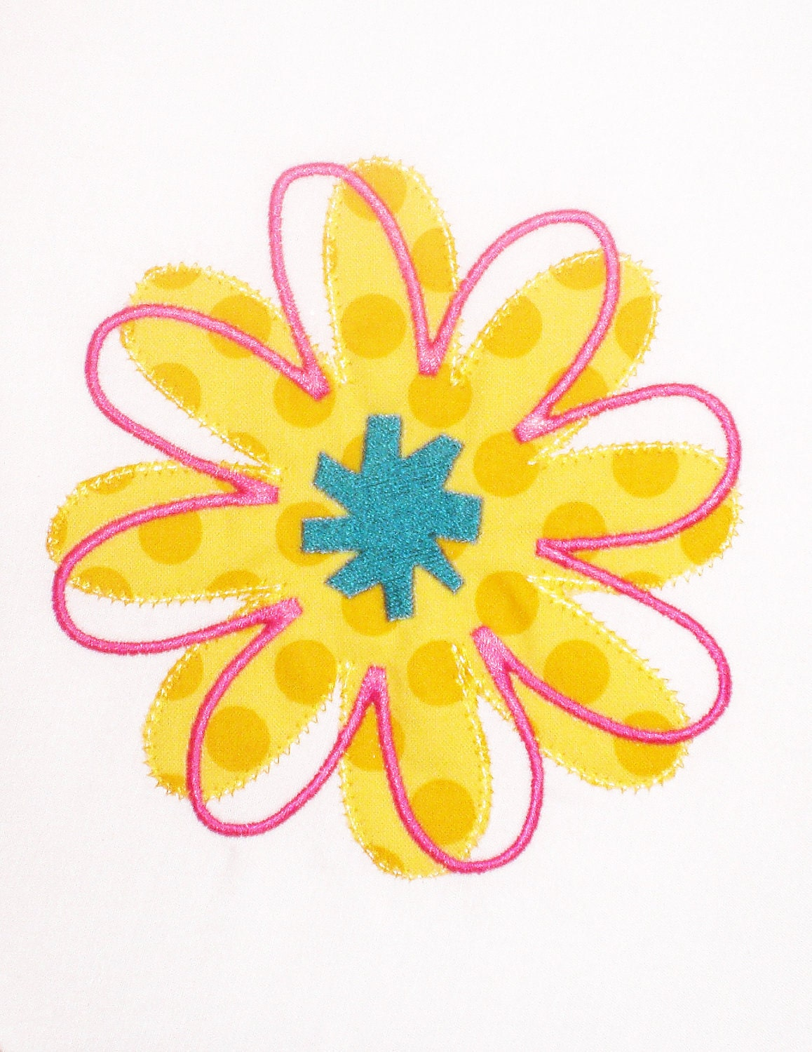 Twisted flower embroidery design machine applique