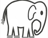 Elephant Machine Embroidery Applique Pattern