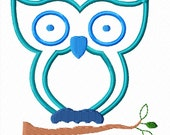 Wise Owl Machine Embroidery Applique Pattern - 4x4 and 5x7 hoop