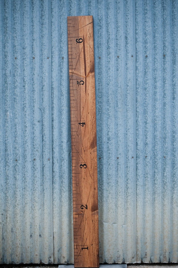 Wood Children's Growth Height Chart Ruler
