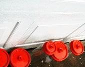 1970s Orange lid Tupperware canister set