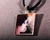 Carnival Pendant Necklace Mini Photo Print Art Charm cute twisted chocker wearable art neck wear Unique OOAK