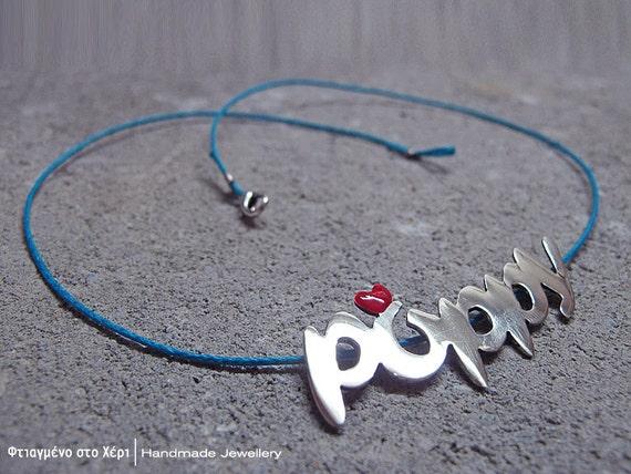 Handmade name custom necklace