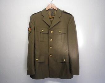 Spanish Army Military Uniform Vintage Clothing Pants Jacket Set