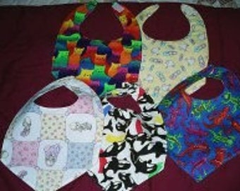 Adult/Handicapped Hand-Sewn Cotton Quilted Bibs