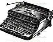 Typewriter Written Word Communication Keys Ribbon ink  paper - Digital Image - Vintage Art Illustration