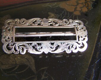 antique belt buckle art nouveau