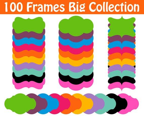 Frames Clipart Big Set Tag Decorative Labels and Tags Clip Art Graphics