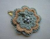 Crochet Motif Hair Clip 6