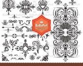 Instant Downloads, 34 Clipart Design Elements, for scrapbooking, wedding invitation card, Personal and Small Commercial Use.BP 0076