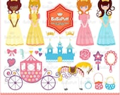 Digital Princess Clip Art ---Personal and Small Commercial Use. BP 0121