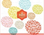 Flower Designs - clip art for scrapbooking, wedding invitation card, Personal and Small Commercial Use. BP 0263