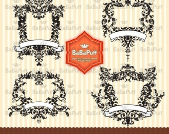 4 Digital Frames Clip Art. Personal and Small Commercial Use. BP 0082