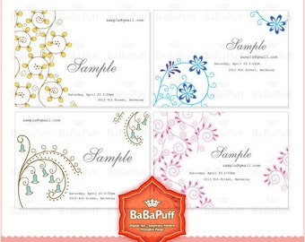 Instant Downloads, Print Your Own Cards ( DIY Print at Home ) Business Card, Thank You Card, Invitation Card, Jewel Card. BP 0143
