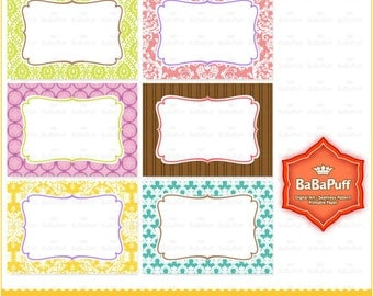 Instant Downloads, Print Your Own Cards --- 6 printables for business cards, invitations, etc. (DIY Print at Home) BP 0252