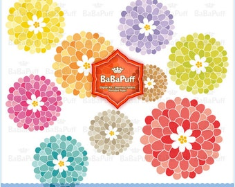 Digital Flowers Clip Art ---- Personal and Small Commercial Use. BP 0273