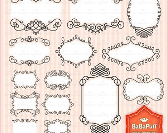 28 Digital Doodles Frames. Personal and Small Commercial Use. BP 0316