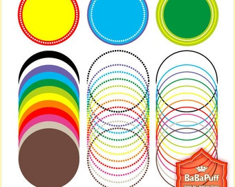 Instant Downloads, 12 X 3 Sets Circle Frames Clip Art. For Your Handmade Crafts Projects. Personal and Small Commercial Use. BP 0248
