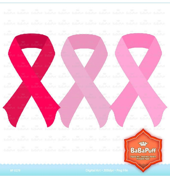 Breast Cancer Pink Ribbons Clip Art. Personal and Small Commercial Use. BP 0308