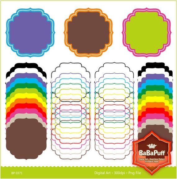 Instant Downloads, 12 Digital Frames X 4 Sets. Personal and Small Commercial Use. BP 0371