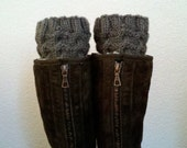 Short Leg warmers / Boot socks / Boot cuffs / Boot tops for girls, teens, women - TAUPE - (more colors available)