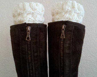 Boot cuffs / Boot tops / Leg warmers for girls, teens, women - CREAM - (more colors available)