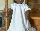 White Cotton 18 or 16 inch dolly nightgown