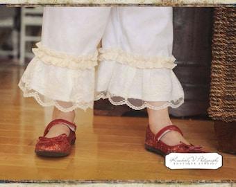 Timeless Treasures.. Chantilly lace double ruffle Capri length pants