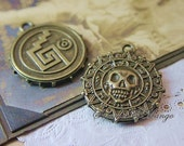 One  Cursed Caribbean Pirate Doubloon-Pendant