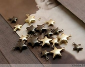 10PCS High Quality  Anqitue Bronze Plated Stars Charm/8MM/10MM