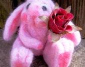 Custom needle felted bunny, your choice of colours