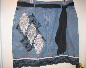 Reclaimed Denim Skirt