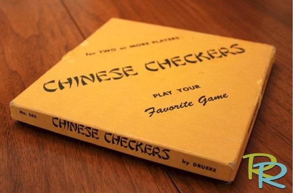 Vintage Chinese Checkers Set By Drueke