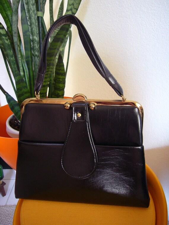 Vintage Mad Men Style Black Frame Bag from Dover Handbag Co