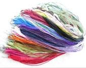 50 Mixed Color Ribbon Cords For Bottlecaps (Bottle Cap) Necklaces