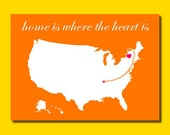 12 Moving Postcards - Home is Where the Heart is
