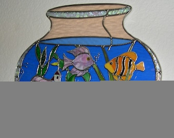 Stained Glass Fish Bowl 3 Dimensional
