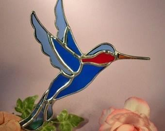 Stained Glass Suncatcher Hummingbird Ruby Throated