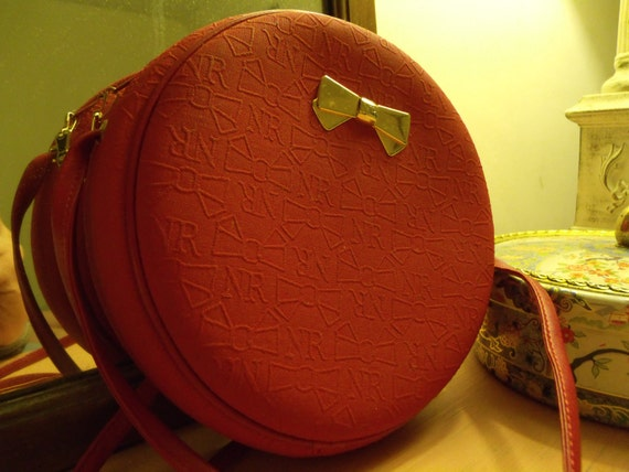 nina ricci red crossbody purse made in paris RESERVED for nhan lam