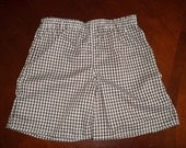 Brown Gingham Check Shorts - Toddler Boys or Girls- Size 12 months to 4T
