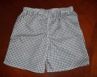 "1/8"" Gingham Check Shorts - Toddler Boys or Girls - Many Colors Available - Size 12 months to 5"