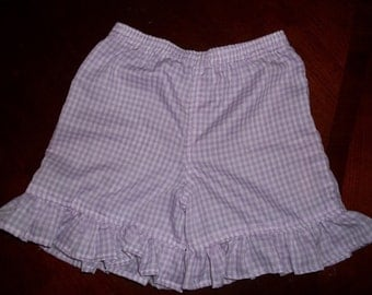 Girls Ruffled Gingham Check Shorts  - Toddler Girls Size 12 months to 5T - Many Colors Available