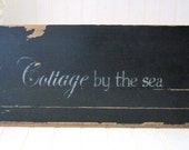 Reclaimed Wood Sign - Cottage by the Sea